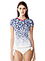 Women's Cap Sleeve Star Print Rash Guard