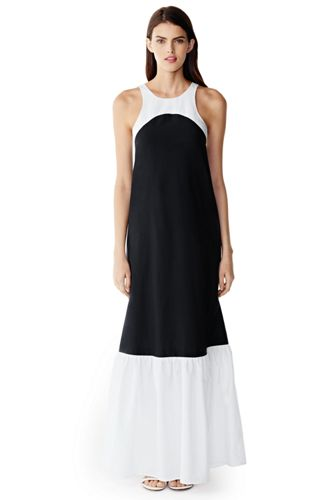 Women's Cotton/Silk Colourblock Maxi Dress Cover-up