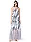 Women's Cotton/Silk Striped Maxi Dress Cover-up