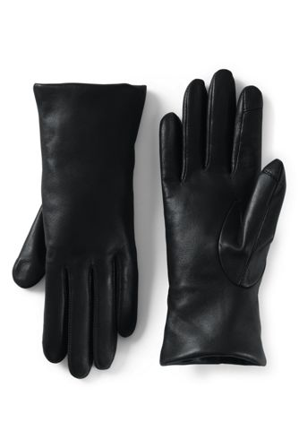 Women's Cashmere Lined Leather Texting Gloves