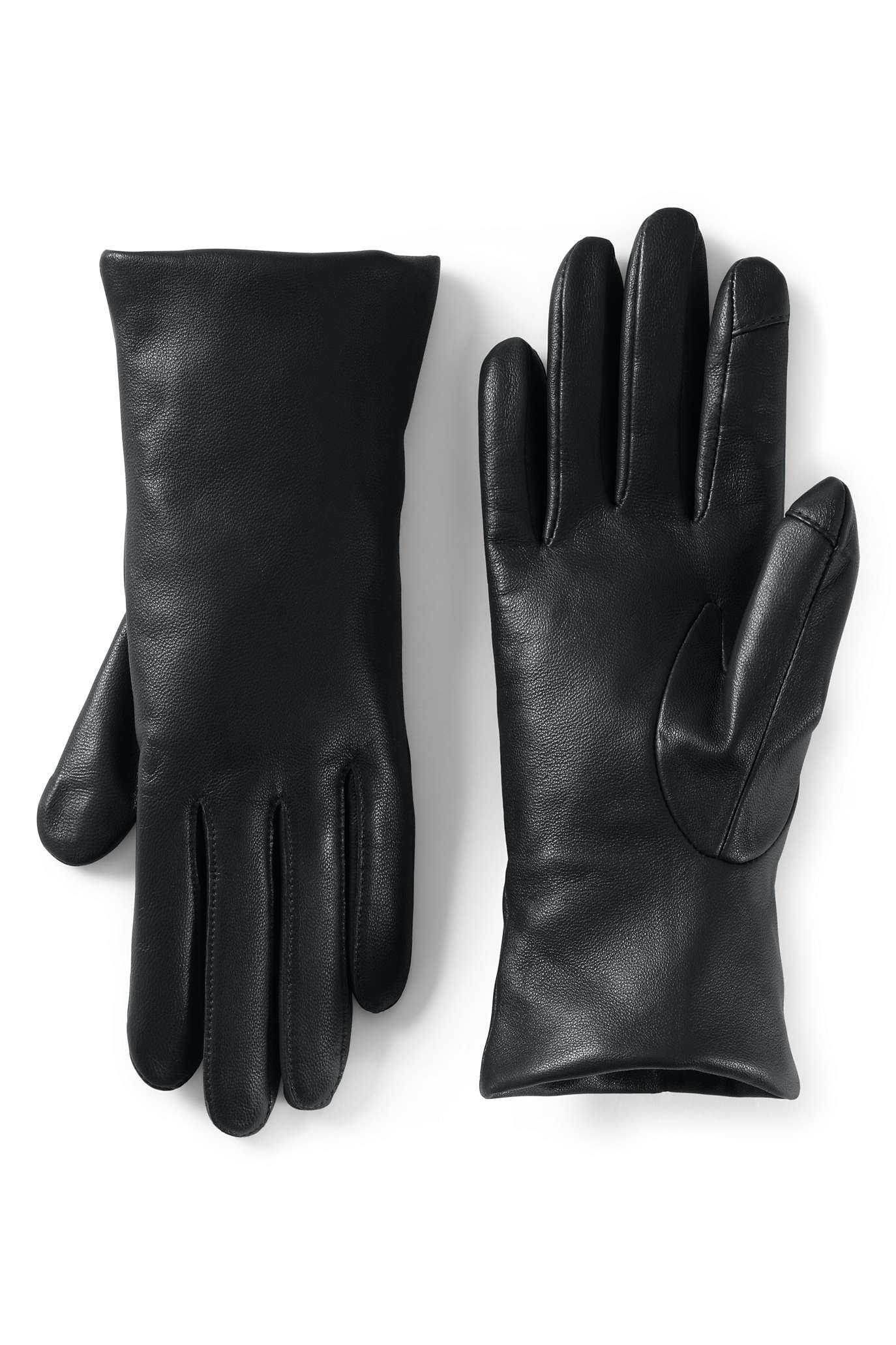Women's Cashmere Lined Leather Tech Gloves