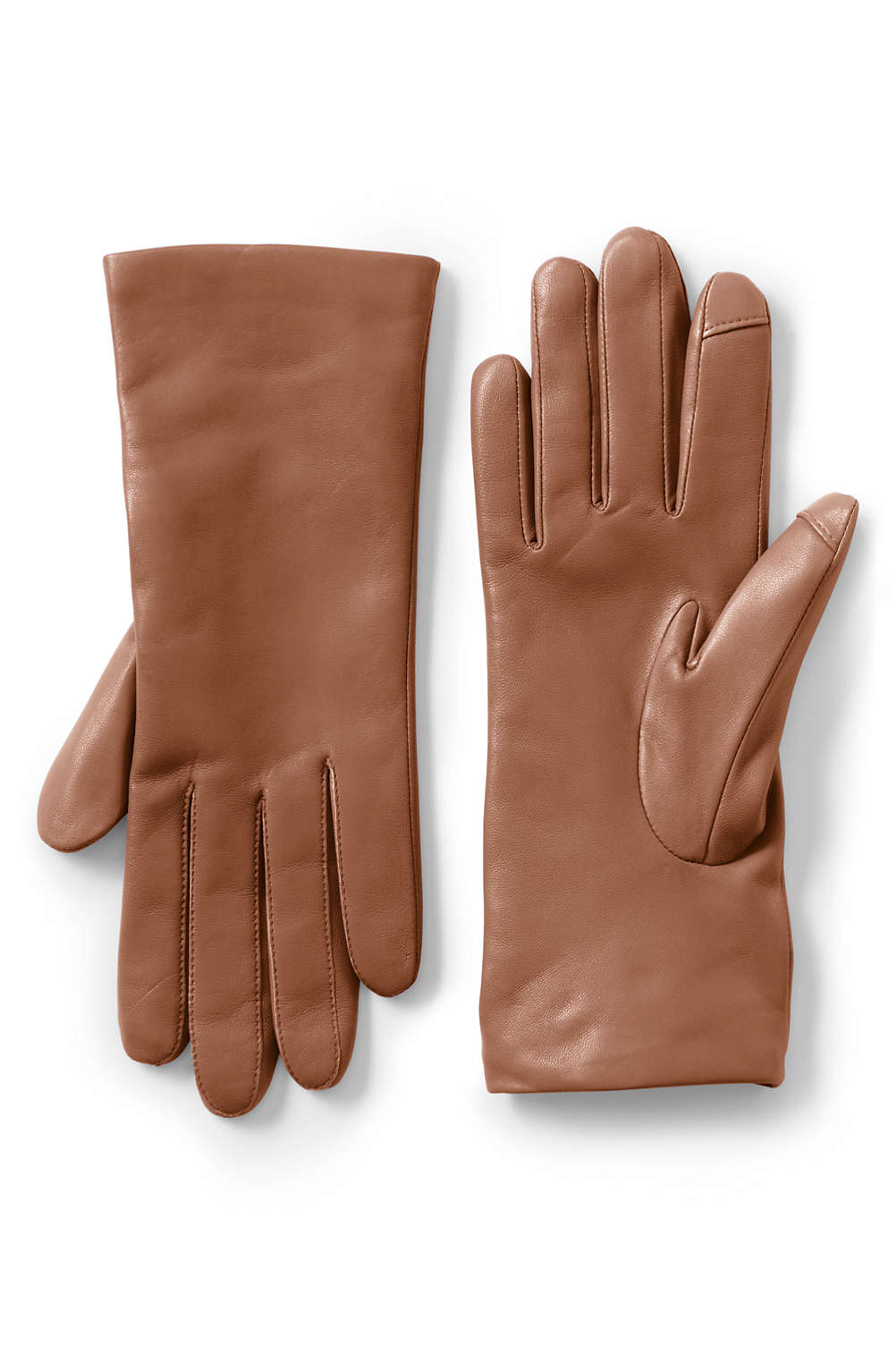93a26b185cd4d Women's Cashmere Lined Leather Tech Gloves from Lands' End