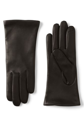 Les Gants Tactiles EZ Touch™ en Cuir et Cachemire Femme