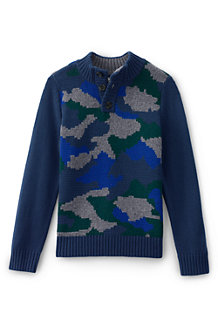 Boys' Camo Button Sweater