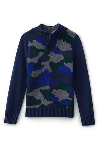 Little Boys' Camo Button Sweater