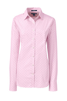 Women's Supima® Patterned Tailored Non-Iron Shirt