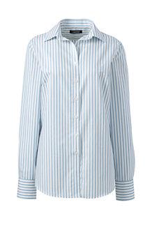 レディス・美型シルエット・スーピマ・ノーアイロン・身長別シャツ/ペティート/柄/長袖