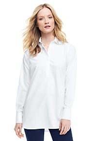 Womens Regular Sleeveless Stripe Woven Collar Polo - 10 -12 - WHITE Lands End The Cheapest 2018 Unisex Online From China For Sale Original For Sale Release Dates Authentic fLpkL95uh3
