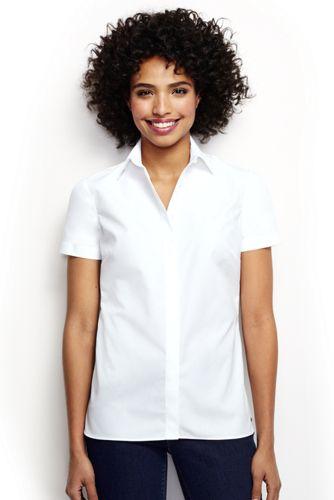 La Chemise Repassage Facile Manches Courtes, Femme Stature Standard