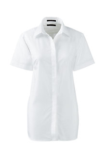 Supima Bügelfrei-Bluse mit kurzen Ärmeln