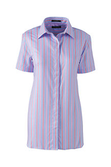Women's Patterned Short Sleeved Non-Iron Shirt