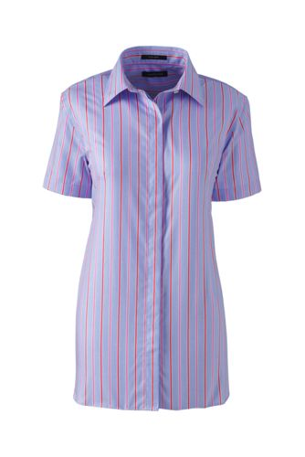 Women's Regular Patterned Short Sleeved Non-Iron Shirt
