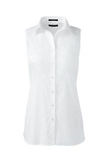 Ärmellose Supima Bügelfrei-Bluse für Damen