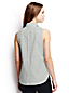 Women's Regular Sleeveless Patterned Non-Iron Shirt