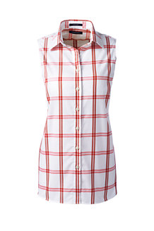 Women's Sleeveless Patterned Non-Iron Shirt