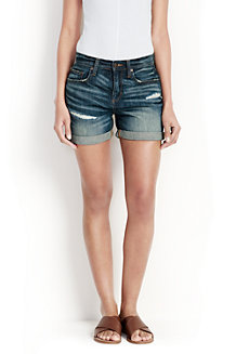 Women's Distressed Denim Shorts