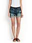 Jeans-Shorts mit Umschlag
