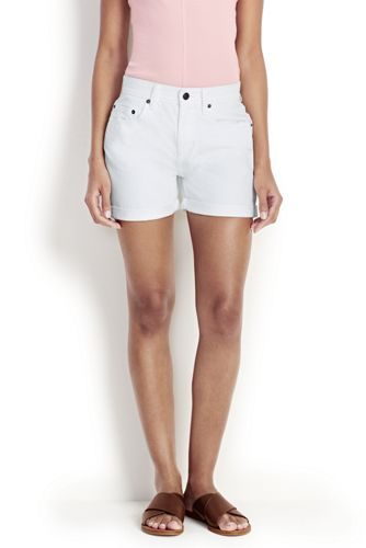 Women's White Denim Shorts