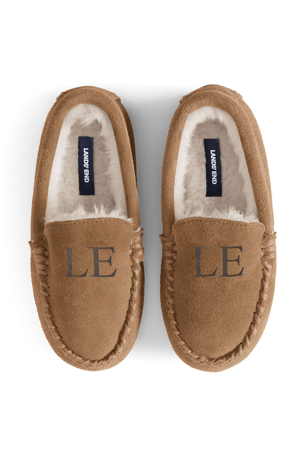72591a23782 Kids Suede Moccasin Slippers from Lands  End