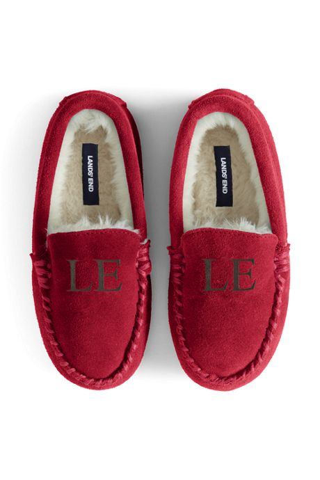 Kids Suede Leather Moccasin Slippers