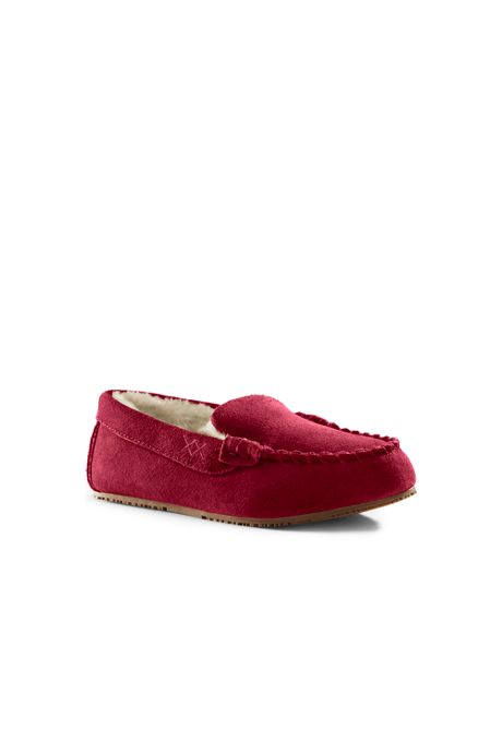 Kids Suede Moccasin Slippers