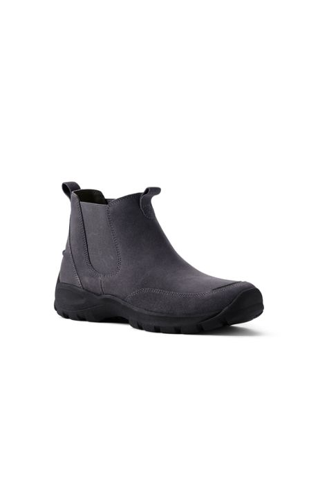 Men's All Weather Suede Leather Slip On Chelsea Boots