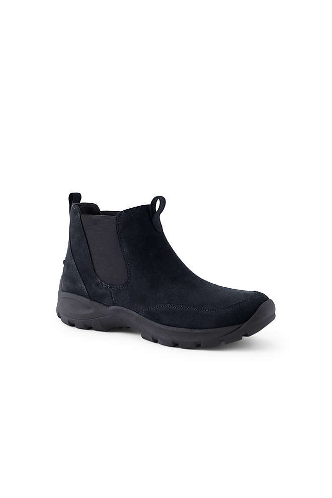 Men's All Weather Suede Leather Slip On Chelsea Boots, Front