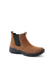 School Uniform Men's Wide Width All Weather Suede Leather Slip On Chelsea Boots