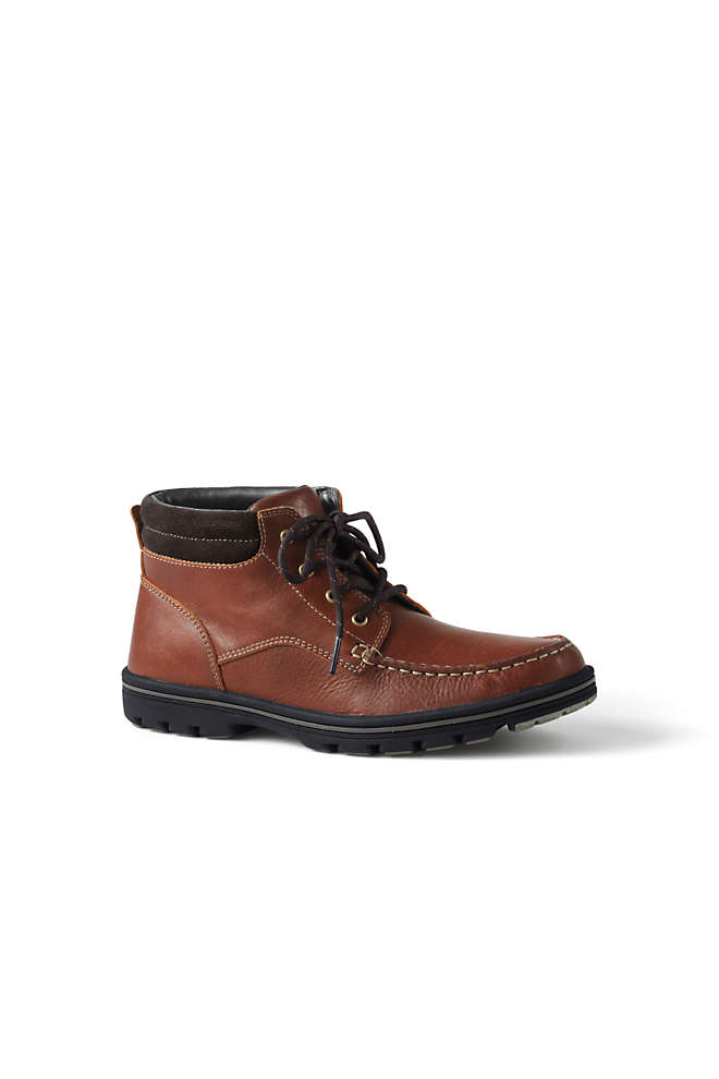 Men's Comfort Leather Chukka Boots, Front