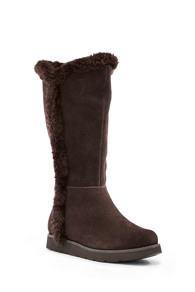 Women's Plush Tall Boots, Front