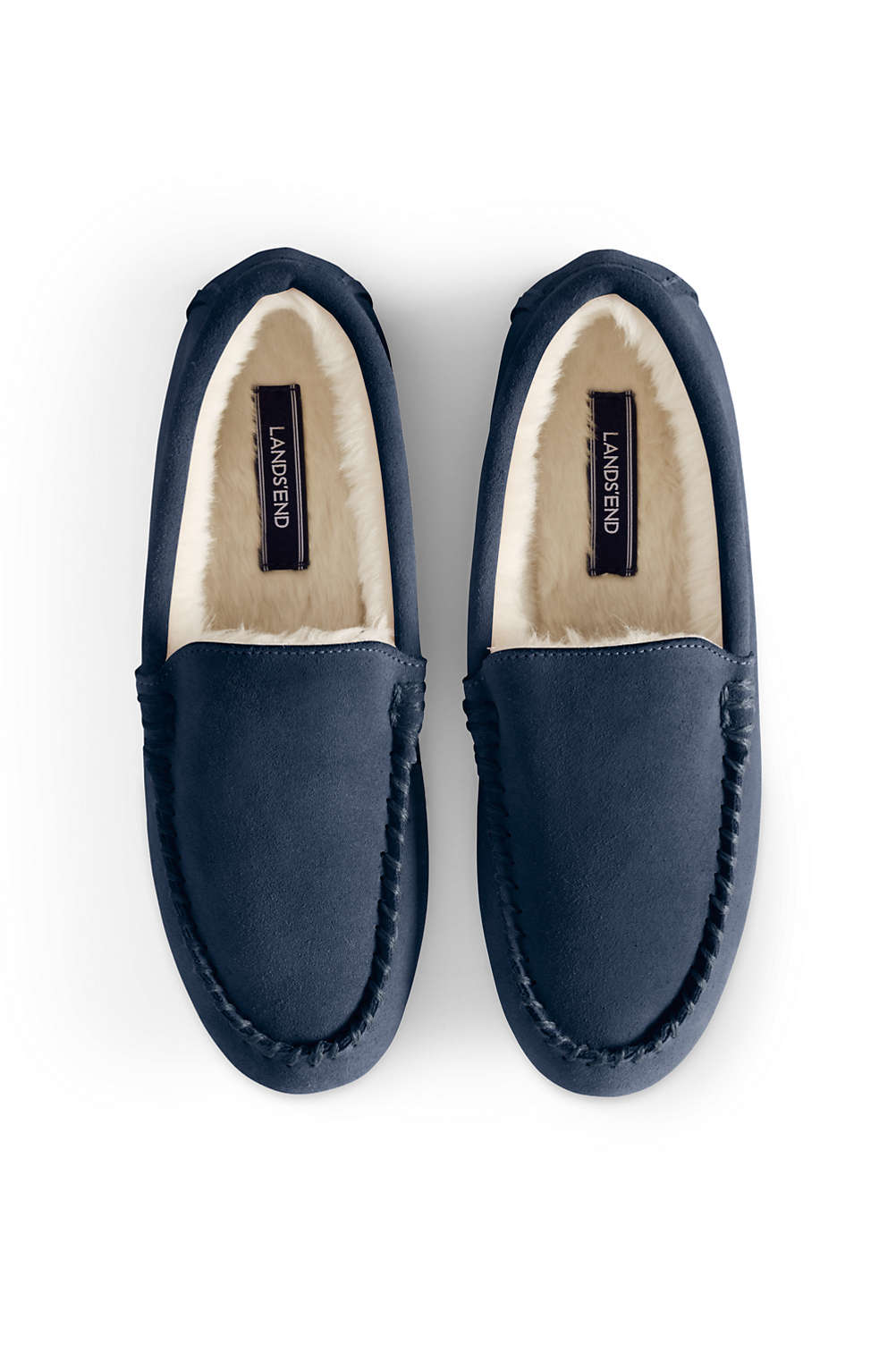 Women s Suede Moccasin Slippers from Lands  End ee587b9d46