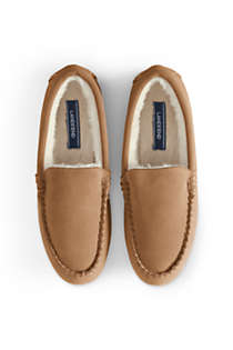 Women's Suede Leather Moccasin Slippers, alternative image