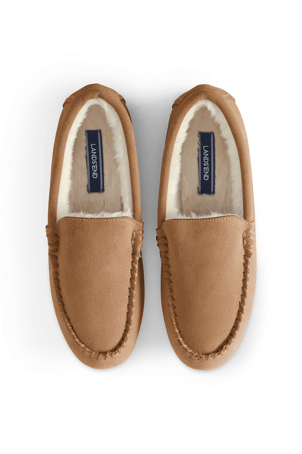 a374750115a8 Women's Suede Moccasin Slippers from Lands' End