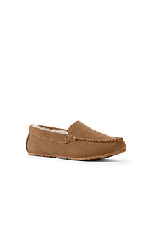 Women's Suede Moccasin Slippers with Faux Fur Lining