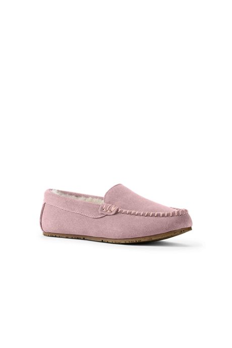 Women's Suede Leather Moccasin Slippers