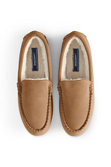 3ba5acadfa Women's Suede Moccasin Slippers with Faux Fur Lining