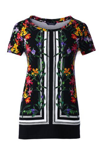 Le T-Shirt Imprimé Foulard, Femme Stature Standard