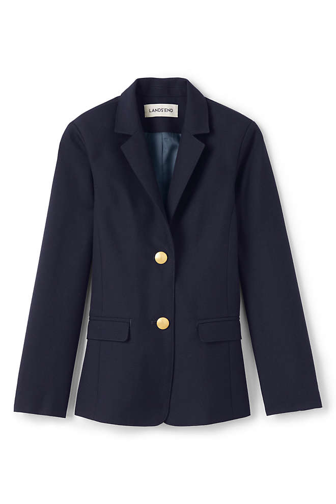 School Uniform Girls Hopsack Blazer, Front