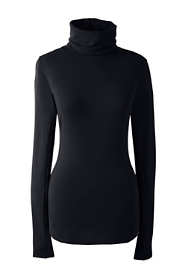 Women's Petite Merino Base Layer Long Underwear Thermaskin Turtleneck