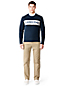 Men's Athleisure Chest Stripe Sweatshirt