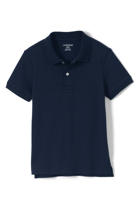 School Uniform Big Kid Tailored Fit Interlock Polo