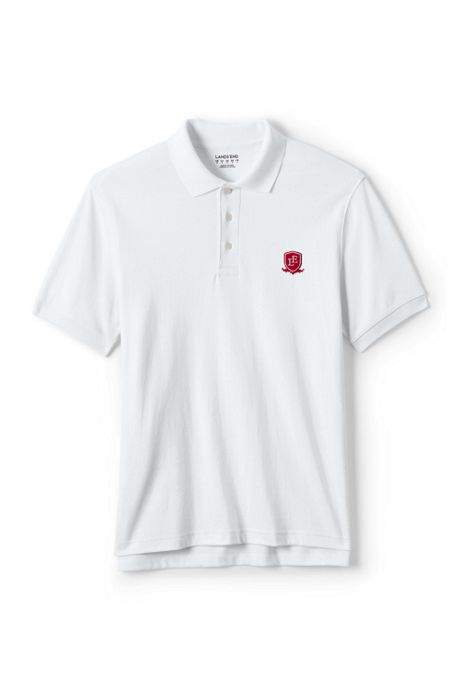 School Uniform Exclusive Men's Tailored Fit Interlock Polo