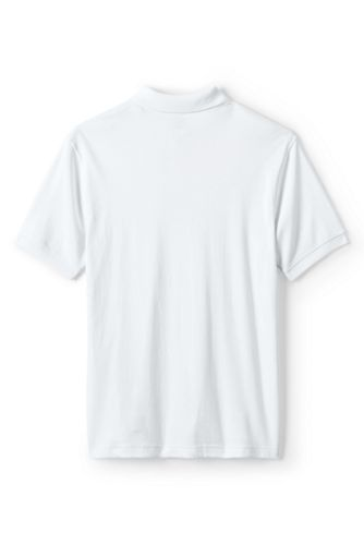 School Uniform Men's Short Sleeve Tailored Fit Interlock Polo Shirt