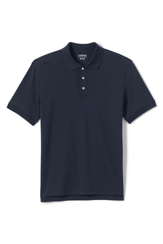 Men's Short Sleeve Tailored Fit Interlock Polo Shirt, Front