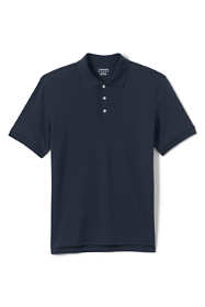 School Uniform Men's Short Sleeve Tailored Fit Interlock Polo Shirt