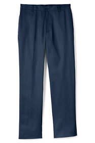 Men's Tailored Fit Blend Plain Front Pants