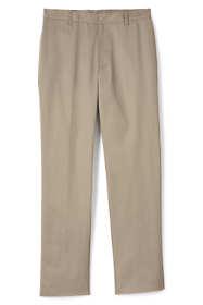 School Uniform Men's Tailored Fit Blend Plain Front Pants
