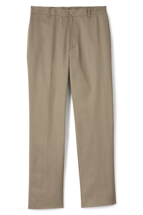 School Uniform Men's Tailored Fit Blend Plain Front Pants