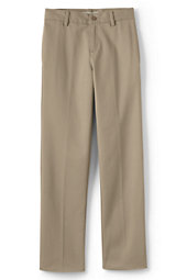 School Uniform Boys Tailored Fit Plain Front Pant-Khaki,10