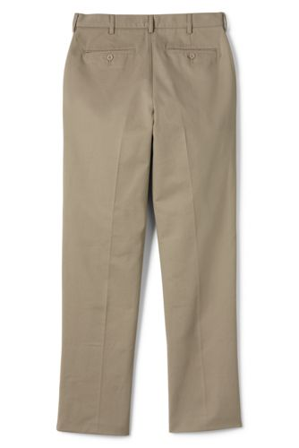 Men's Tailored Fit Stain Resist Wrinkle Resist Plain Front Chino Pants